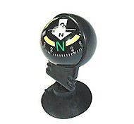 Mini Directional Traval Car Compass wiht Suction Cup - Black