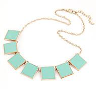 European Style Square Short Choker Necklace