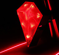 CoolChange Diamond Waterdichte Red Bicycle Tail Light