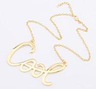 Golden COOL Pendant Necklace