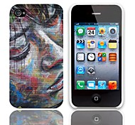 Oil Painting Pattern Back Case with 3-Pack Screen Protectors for iPhone 4/4S