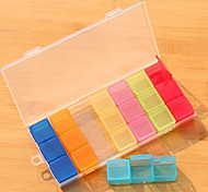 Simple Colorful 21 Cellrooms Pill Box