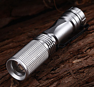 LED Flashlights / Handheld Flashlights LED 3 Mode 150 Lumens Waterproof Cree XP-E R2 AA Multifunction - Others , Silver Aluminum alloy