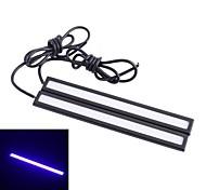 Waterproof 6W 220lm 6000K 60-COB LED Ice Blue Light Car Daytime Running Light Strip Bar - White (12V / 14cm)