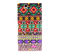 Kinston Colorful Lace Pattern Plastic Hard Case for Sony L36h(Xperia Z)
