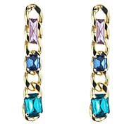 Stone Set Chain Earrings