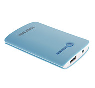 NOYUDA 5000mAh External Battery with Flashlight for Mobile Device(Blue)