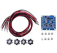 RC LED Flashing Light/Night Light w/LED Board and LED Extension Wire for Quadcopter (4 pcs)