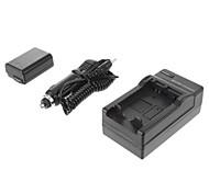 ismartdigi-Sony NP-FW50 (2pcs) 1080mAh, 7.2V batería de la cámara + cargador de coche para SONY NEX-5T 5R 3N F3 C3 A7 7 A55 A35 A7R