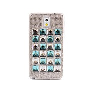 Shinning Blue Diamond Jelly Design PC Case for Samsung Note3