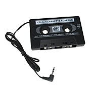 Car Audio Cassette Adapter for MP3 / MP3 / Cell Phones - Black  (3.5mm Plug)