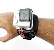 Wrist Mount Clip Belt + CNC Aluminum Back Door Clip + Screw Sets for Gopro 3+