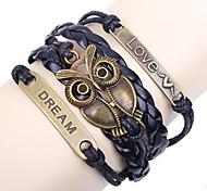braccialetto blu id pelle shixin® 18 centimetri gufo europeo femminile (1 pc)