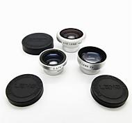 Магнитный 4 в 1 широкоугольный объектив / Макро lens/180 Рыбий глаз объектив / 2X Kit Установить на мобильный 5/4 / IPad / мобильный телефон-серебро