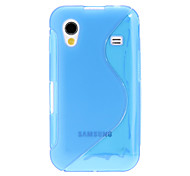 Wit S Shape TPU Gel Skin Case voor Samsung Galaxy Ace S5830 (assorti kleur)