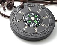 Лава Рок Квантовая Подвеска Скалярные энергии ожерелье ювелирных изделий с компасом