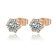 Gorgeous Fashion Jewelry Gold plated with Crystal Stud Earrings(one pair)