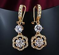 Tropfen-Ohrringe vergoldet 18K Gold Silber Golden Schmuck Hochzeit Party