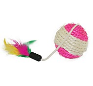 Cats Toys Teaser Rope Textile / Sisal Multicolor