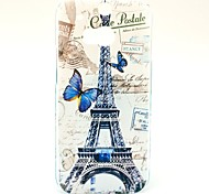 Beautiful Butterfly and Famous Eiffel Tower Pattern Hard Case for HTC One 2 M8