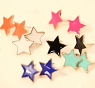 Miss ROSE®Fluorescent Candy Color Star Pattern Earrings(Assorted Colors)\ \ \ \ \ \ \ \ \