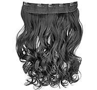 Hohe Temperaturbeständigkeit 15 Zoll lange gewellte 5 Clip Haarteil Erweiterung 12 Farben erhältlich