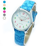 Children's Fashion Round Case PU Band Quartz Wrist Watch (Assorted Colors)  Cool Watches Unique Watches