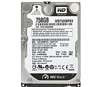 Western Digital WD7500BPKX SATA3 750G da 2,5 pollici per notebook Internal Hard Disk Nero Piatto