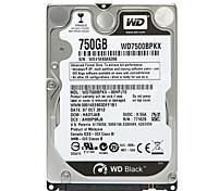 Western Digital WD7500BPKX SATA3 750G 2.5 pulgadas para Notebook Placa interna de disco duro Negro