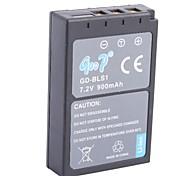 Replacement Battery for Olymplus E-400,EVOLT E-410,E-420,E-620,PEN E-P1,E-PM1 (7.2V,900mAh)