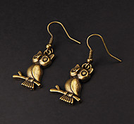 Cute Owl Copper Earrings(1 Pair)