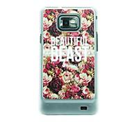 Schöne Rosen Leder Vene Muster Hülle für Samsung Galaxy S2 I9100