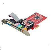 6CH 6 Channel 5.1 Stereo Surround PCI-E PCI Express Sound Audio Card CMI8738