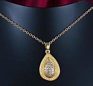 Fashion Micro Setting Real Gold Plated Girl Friend Gift Pendant Necklace