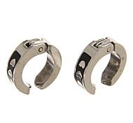 Fashion Black Three Hearts Alloy Clip Earring(1 Pair)