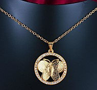 Real Gold Plated Butterfly Shaped Pendant Necklace