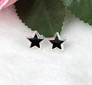 Women's Five-Pointed Star Allergy Free with Plated Silver Plastic Earring 1pair