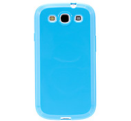For Samsung Galaxy Case Ultra-thin Case Back Cover Case Solid Color TPU Samsung S3