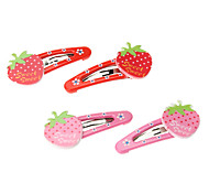 Kid's Strawberry Barrettes Hair Jewelry