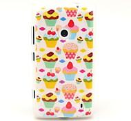 Strawberry Cake Pattern TPU Soft Case for Nokia Lumia N520