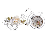 "21""H White Tricycle Style Tabletop Clock"