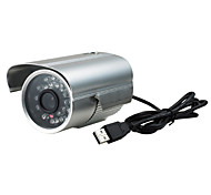 Haute Qualité imperméable surveillance infrarouge de vision nocturne caméra USB LED intelligent (Plug and Play)
