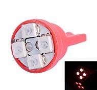 T10 4W 120LM 4×3528 SMD LED Color Light for Car Dashboard / Door / Trunk Lamps (DC 12V,, 1Pcs)