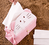 Cartoon Bear/Cat Design Fabrics Tissue Holder(Random Color)