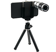 12X Optical Glass Zooms Lens Camera Telescope+Back Case+Tripod for iPhone 5/5s