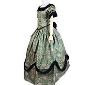 Deluxe Princess Green Brocade vestido lolita dulce