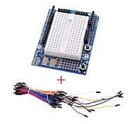 Mini Breadboard w/ 70 pcs Solderless Flexible Breadboard Jumper Wires