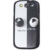 Black and White Heart Pattern Hard Case for Samsung I9300