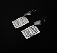 Square Shape Drop Earrings