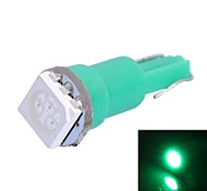 T5 0.25W 14LM 1x5050 SMD LED Green Light for Car Indicate / Dashboard / Width Lamps (DC 12V,, 1Pcs)